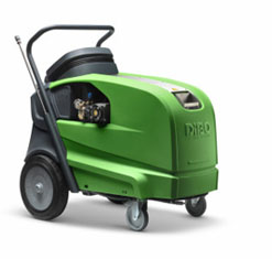 The DiBO IBH-S is a compact hot water high pressure cleaner
